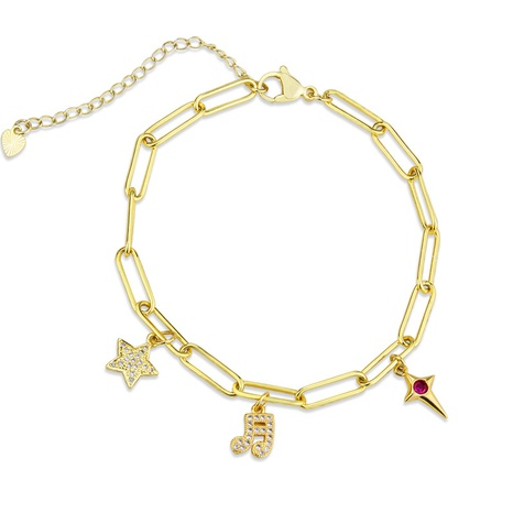 new musical note star chain bracelet  NHBP319908's discount tags