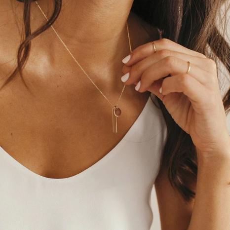 geometrische Anhänger Titan Stahl vergoldete Halskette NHTF319931's discount tags