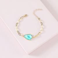 new imitated multi-faceted natural stone bracelet  NHLU319937