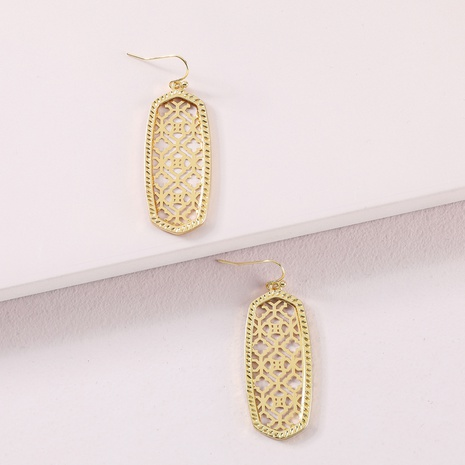 fashion geometric hollow exaggerated earrings NHLU319946's discount tags