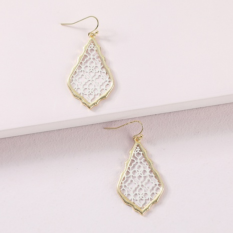 fashion geometric hollow exaggerated earrings NHLU319951's discount tags