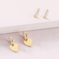 fashion alloy peach heart-shaped earrings set NHLU319961