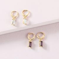 fashion alloy crystal pendant earrings set NHLU319962