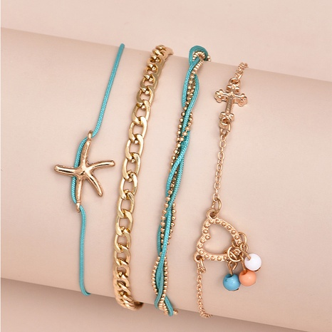 Starfish Multilayer Anklet  NHAJ320055's discount tags