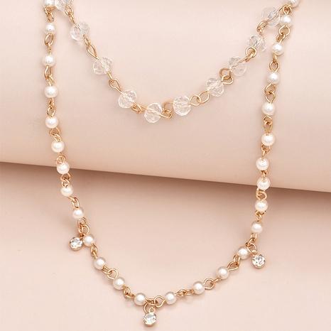 Nouveau collier de perles de mode coréenne NHAJ320054's discount tags