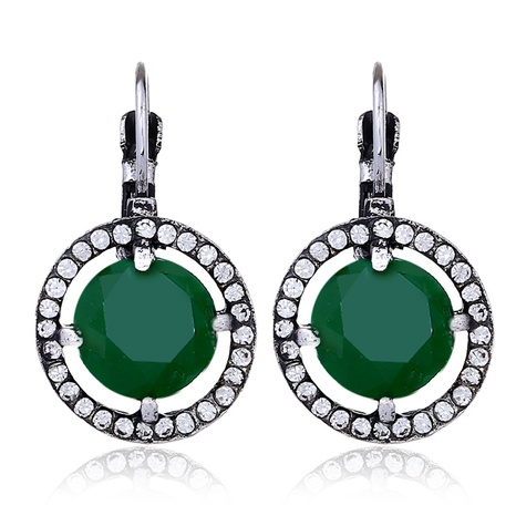 retro diamond round hypoallergenic earrings NHKQ319971's discount tags