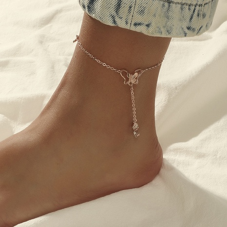 Simple fashion tassel butterfly anklet NHKQ319989's discount tags