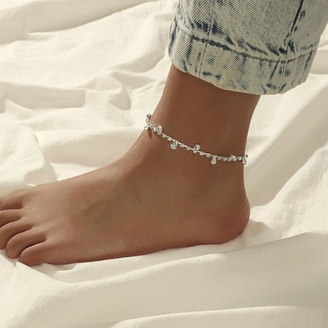 simple creative classic diamond anklet NHKQ319992's discount tags