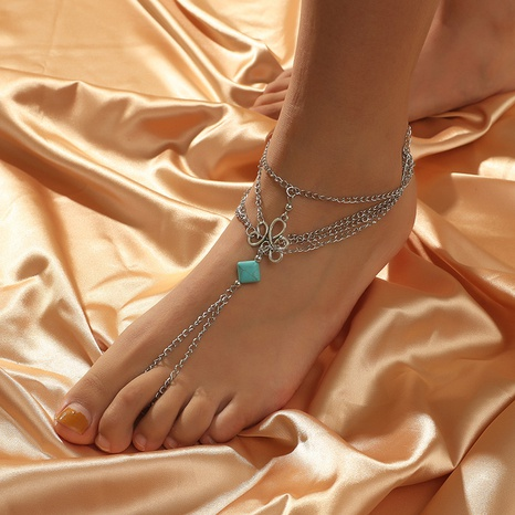 retro hollow creative new anklet NHKQ319993's discount tags