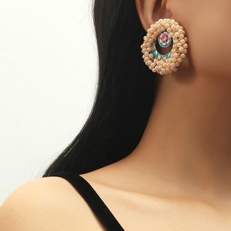 retro elegant flower pearl earrings  NHKQ320002's discount tags
