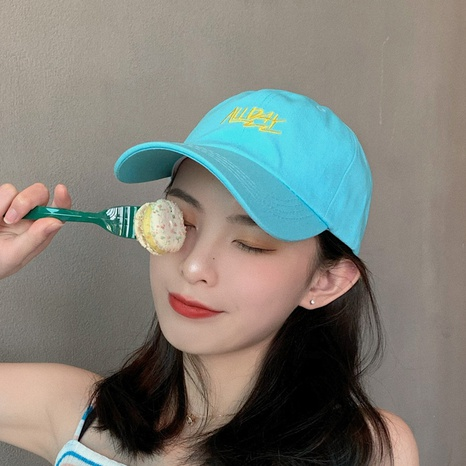 soft top letters sunshaden couple baseball cap NHCM320109's discount tags