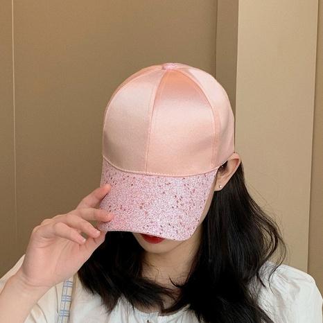 Korean street sequins casual peaked cap NHCM320107's discount tags