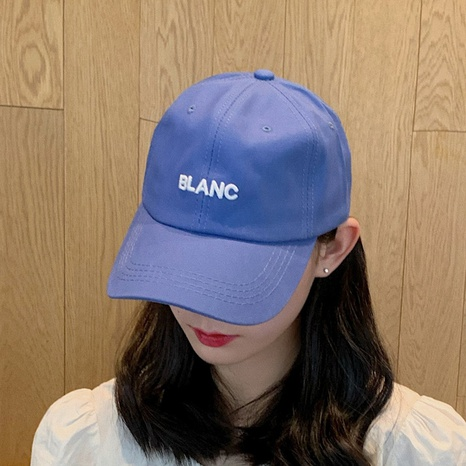 Korean solid color embroidery letter baseball cap  NHCM320143's discount tags