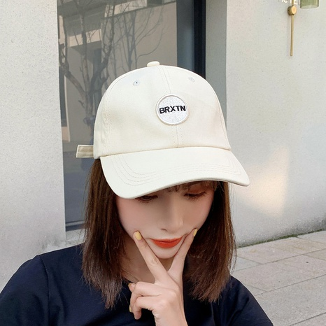 Korean letter patch round label baseball hat  NHCM320144's discount tags