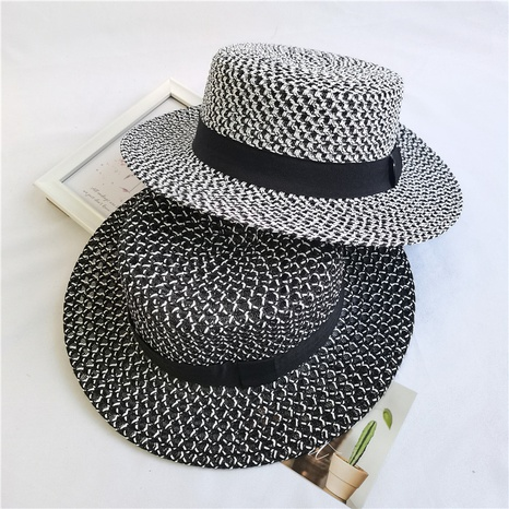 flat hollow three-dimensional outing straw hat   NHCM320148's discount tags