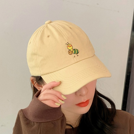 spring summer cartoon bee embroidery baseball cap NHCM320158's discount tags