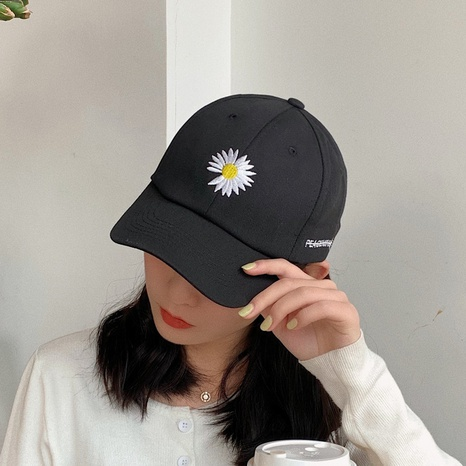 fashion chrysanthemum sunscreen peaked cap NHCM320170's discount tags