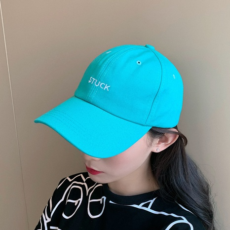 Korean embroidery pure color sunscreen cap NHCM320173's discount tags