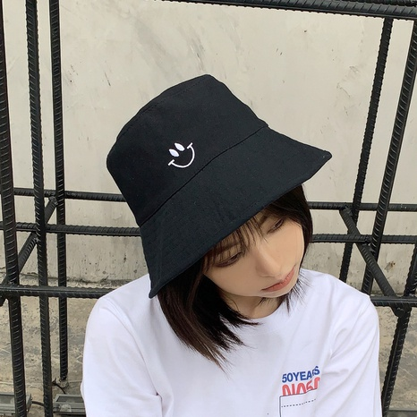 Japanese sunscreen double-sided smiley fisherman hat NHCM320179's discount tags