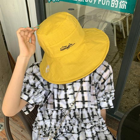 summer daisy double-sided sunshade fisherman hat  NHCM320181's discount tags