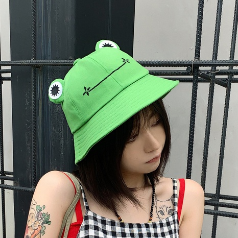 cartoon green frog breathable fisherman hat  NHCM320187's discount tags