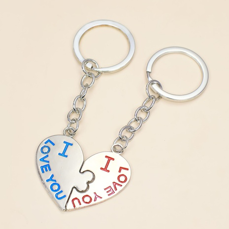 fashion alloy pendant creative love keychain NHAP320193's discount tags