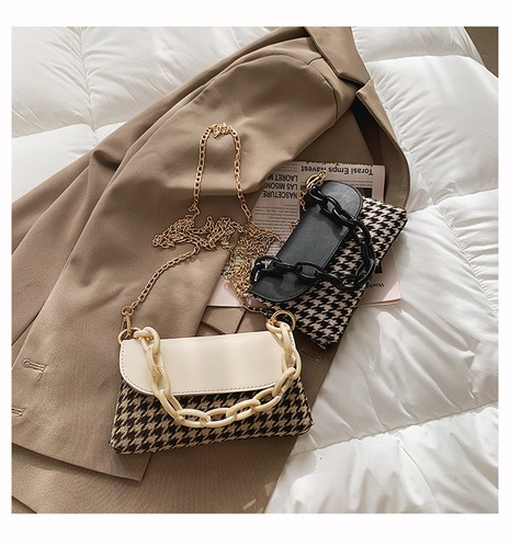Retro new trendy fashion texture chain messenger bag NHTG320312's discount tags