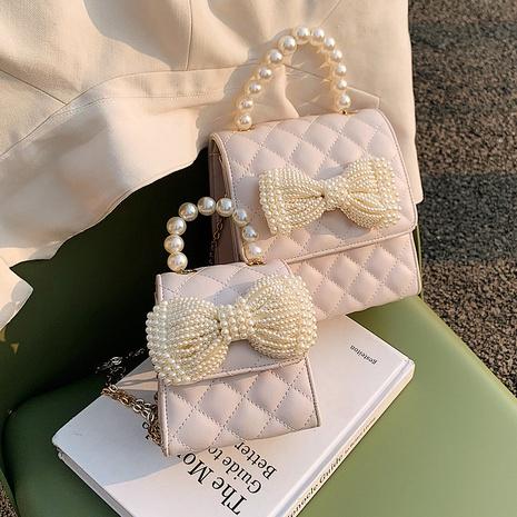fashion rhombic pearl chain bag NHTG320338's discount tags