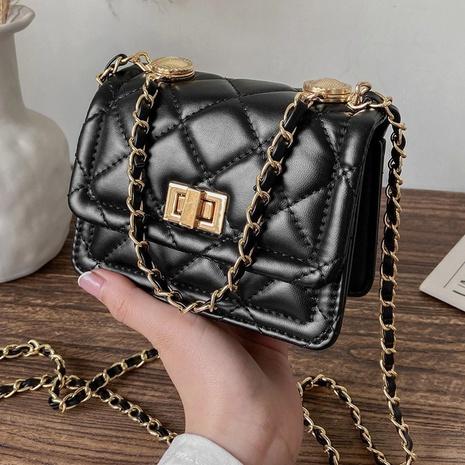 Fashion small square bag Mini bag rhombus chain messenger bag  NHTG320343's discount tags