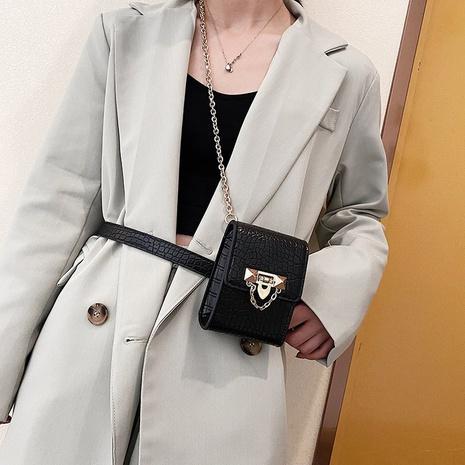 Crocodile pattern mini waist bag chain messenger lipstick bag  NHTG320346's discount tags