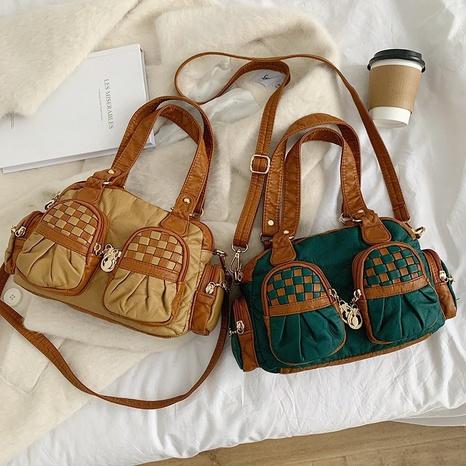 Large capacity soft PU handbags shoulder bag NHTG320350's discount tags