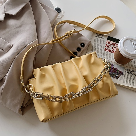 fashion simple thick fashion fold cloud square bag NHTC320385's discount tags