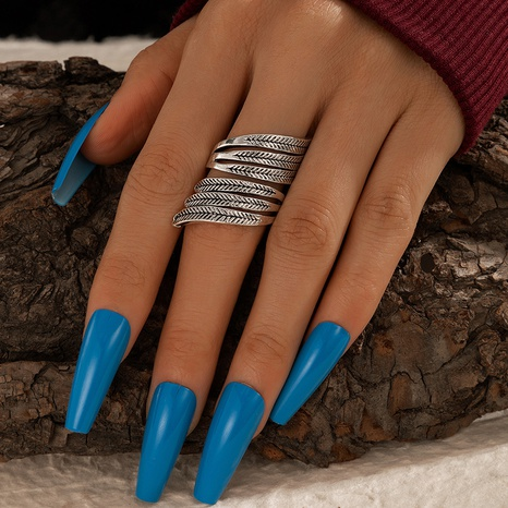 Exaggerated Leaf Feather Shape Ring  NHGY320635's discount tags