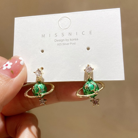 Korean asteroid needle earrings   NHMS320640