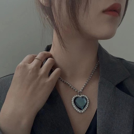 fashion blue ocean star necklace NHYQ320654's discount tags