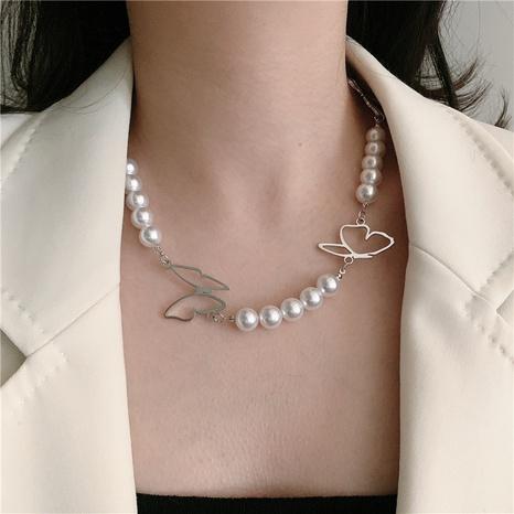 collier de perles de mode simple papillon NHYQ320655's discount tags