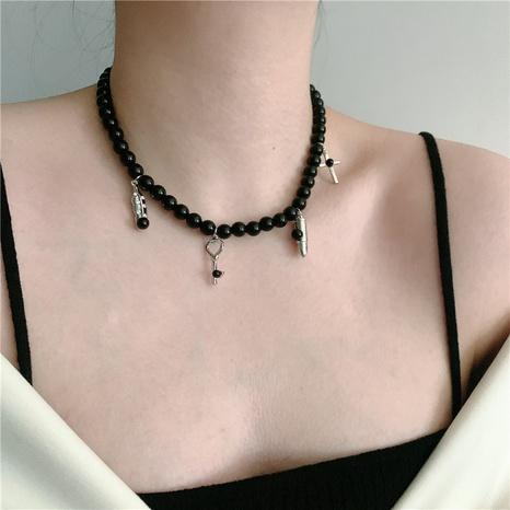 collier de perles fashion bullet cross NHYQ320658's discount tags