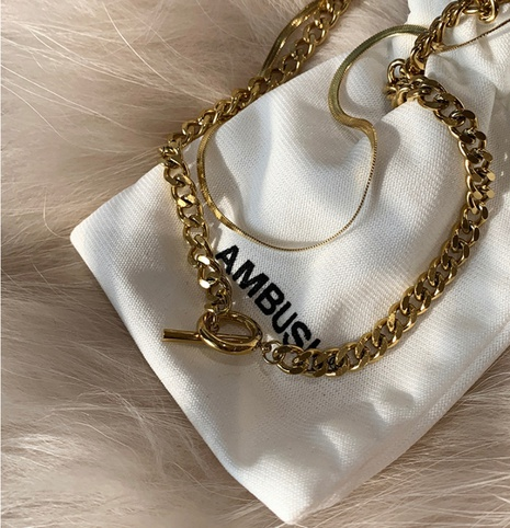 fashion OT buckle double-layer necklace NHYQ320665's discount tags