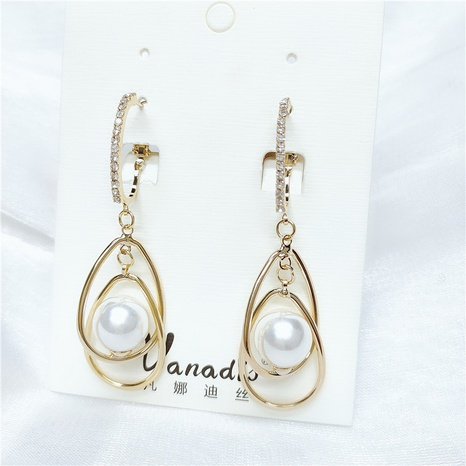 Boucles d'oreilles perles géométriques coréennes NHVA320675's discount tags