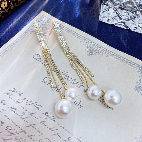 long tassel retro pearl earrings NHVA320691's discount tags