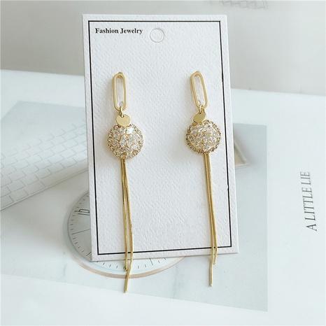 Nouvelles boucles d'oreilles à pampilles simples coréennes NHVA320701's discount tags