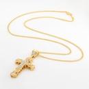 alloy diamond cross pendant necklace NHJE320721
