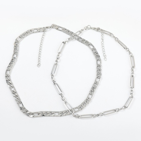 hip-hop style alloy double-layer necklace  NHJE320724's discount tags
