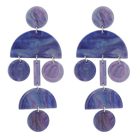 Acrylic Acetate Sheet Geometric Round Earrings NHJJ320757's discount tags