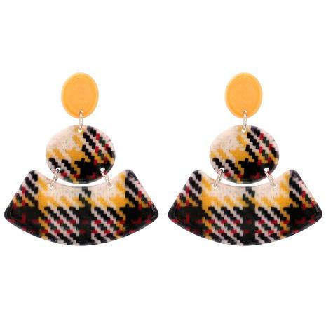 Acrylic Acetate Sheet Geometric Circular Fan Shaped Earrings NHJJ320758's discount tags