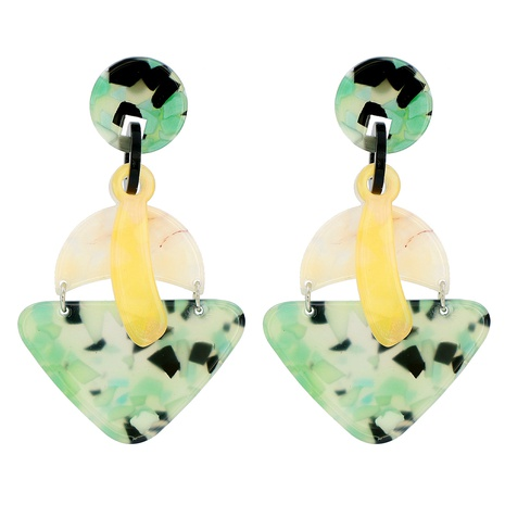 Acrylic Acetate Sheet Geometric Green pendant Earrings NHJJ320759's discount tags