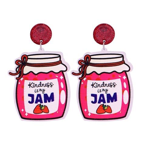 Geometric Pink Jam Canned Pendant Earrings NHJJ320760's discount tags