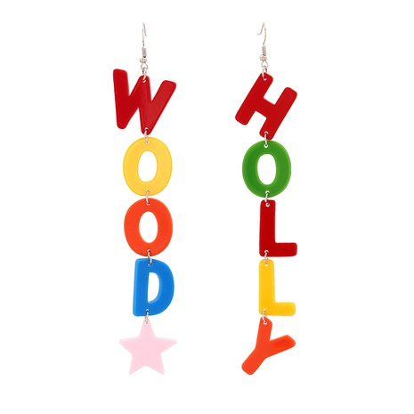 English Letter HOLLY Pendant Earrings NHJJ320764's discount tags