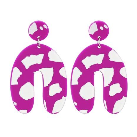 Geometric U Shape Pink Pendant Earrings NHJJ320766's discount tags