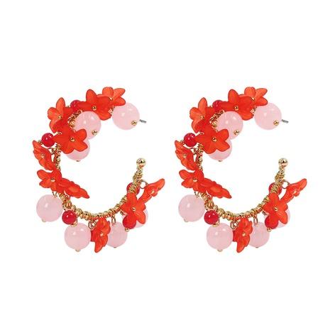 Boucles d'oreilles en verre incrusté de fleurs coréennes NHJQ320768's discount tags